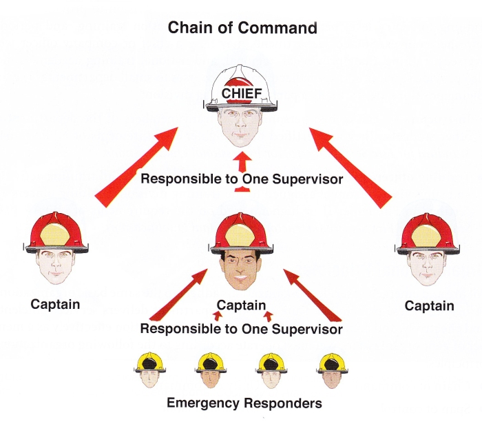 Fire Service Chain of Command. Photo from Essentials of Fire Fighting, 6th Edition.