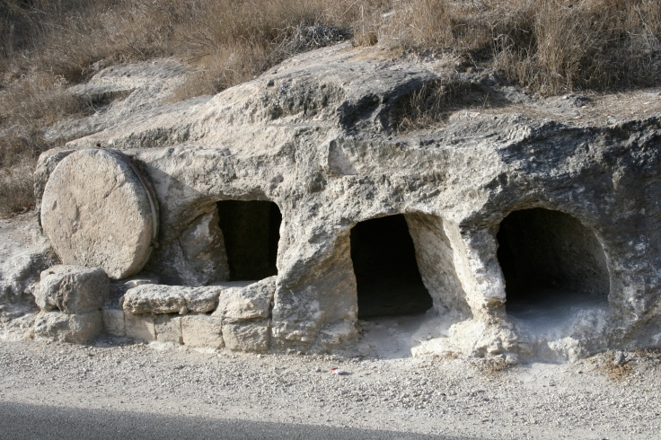 A first century tomb in Israel. Photo by Joelle Chilcott.