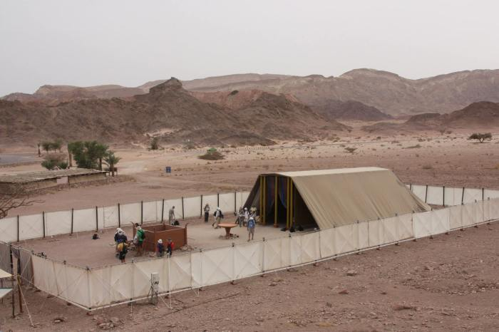 Life-size Tabernacle replica at Timna. Photo by Anja Noordam.