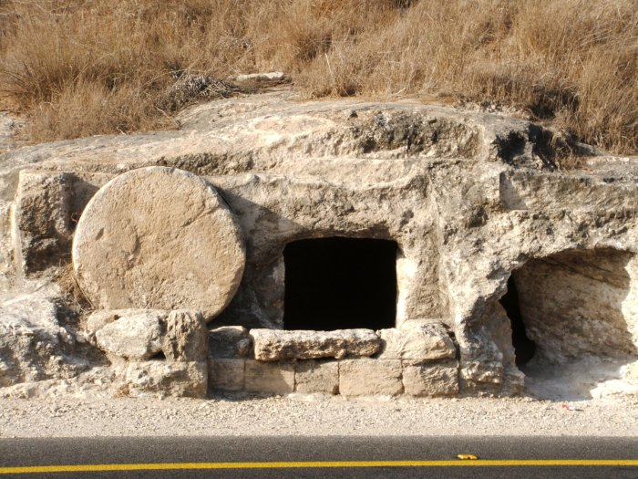 First century tomb in Israel. Photo by Olga Shaffer