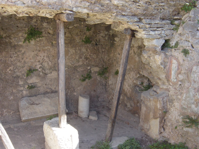 Traditional site of prison in Philippi where Paul and Silas were held. Photo by Lisa Plymale