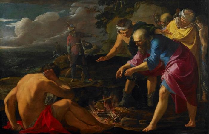 Laurent de la Hyre's Saint Paul Shipwrecked on Malta
