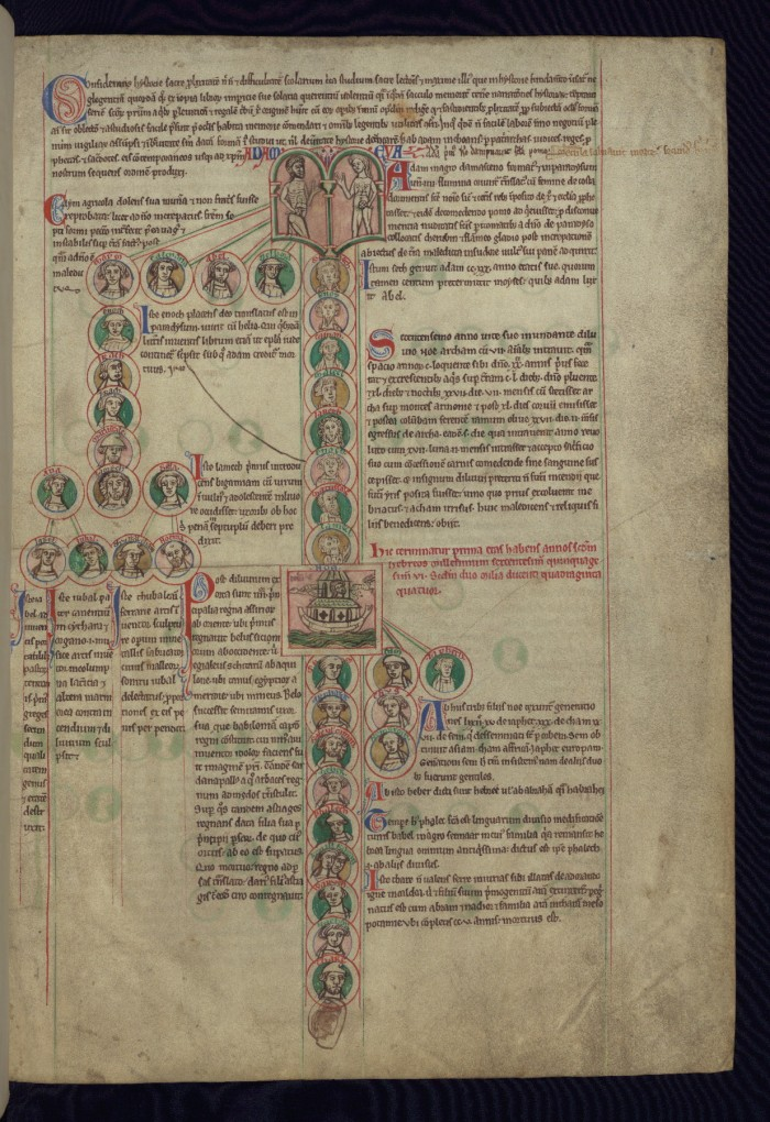 Peter of Poitier's Historical Genealogy of Christ from Walter's Art Museum