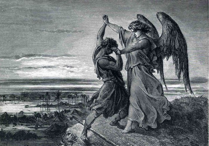 """Jacob Wrestling with the Angel"" by Gustave Doré"