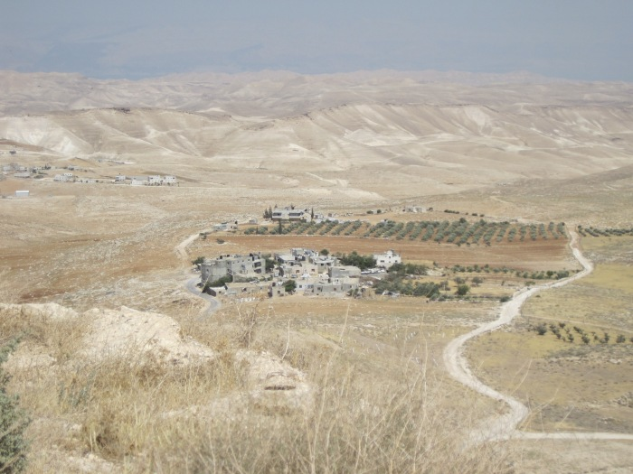A village, about the size of Bethlehem in Jesus' day, as seen from the top of the Herodium. Photo by Olga Shaffer.